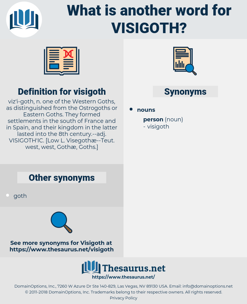 visigoth, synonym visigoth, another word for visigoth, words like visigoth, thesaurus visigoth