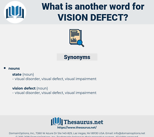 vision defect, synonym vision defect, another word for vision defect, words like vision defect, thesaurus vision defect