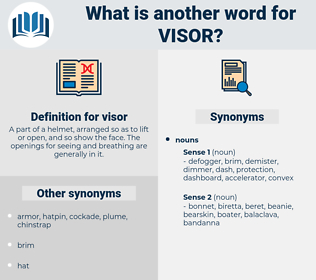 visor, synonym visor, another word for visor, words like visor, thesaurus visor