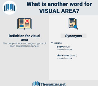 visual area, synonym visual area, another word for visual area, words like visual area, thesaurus visual area