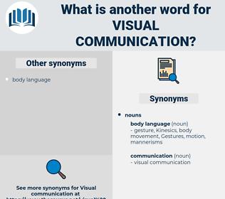 visual communication, synonym visual communication, another word for visual communication, words like visual communication, thesaurus visual communication