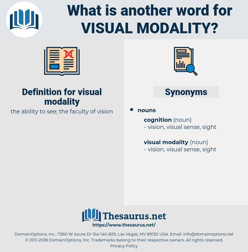 visual modality, synonym visual modality, another word for visual modality, words like visual modality, thesaurus visual modality