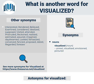 visualized, synonym visualized, another word for visualized, words like visualized, thesaurus visualized
