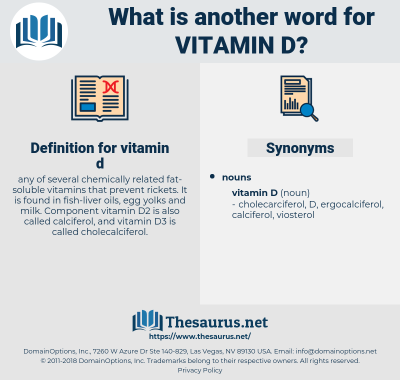 vitamin d, synonym vitamin d, another word for vitamin d, words like vitamin d, thesaurus vitamin d