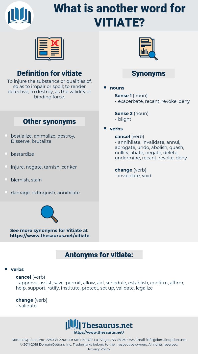 vitiate, synonym vitiate, another word for vitiate, words like vitiate, thesaurus vitiate