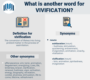 vivification, synonym vivification, another word for vivification, words like vivification, thesaurus vivification