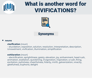 vivifications, synonym vivifications, another word for vivifications, words like vivifications, thesaurus vivifications