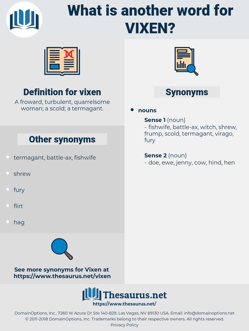 vixen, synonym vixen, another word for vixen, words like vixen, thesaurus vixen
