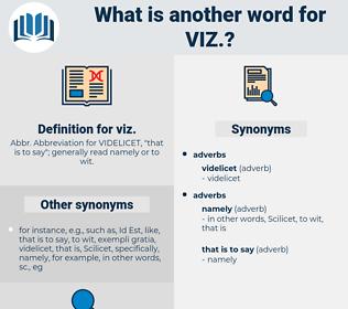viz, synonym viz, another word for viz, words like viz, thesaurus viz