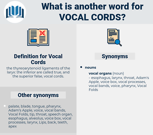 Vocal Cords, synonym Vocal Cords, another word for Vocal Cords, words like Vocal Cords, thesaurus Vocal Cords