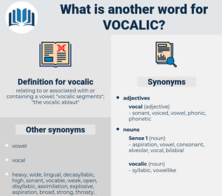 vocalic, synonym vocalic, another word for vocalic, words like vocalic, thesaurus vocalic