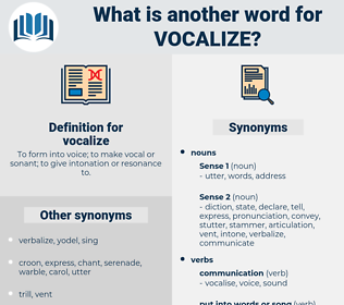 vocalize, synonym vocalize, another word for vocalize, words like vocalize, thesaurus vocalize