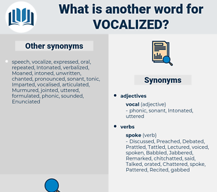 Vocalized, synonym Vocalized, another word for Vocalized, words like Vocalized, thesaurus Vocalized