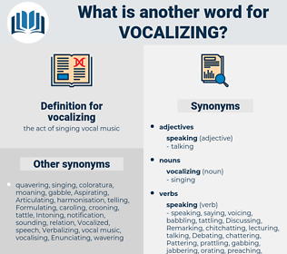vocalizing, synonym vocalizing, another word for vocalizing, words like vocalizing, thesaurus vocalizing