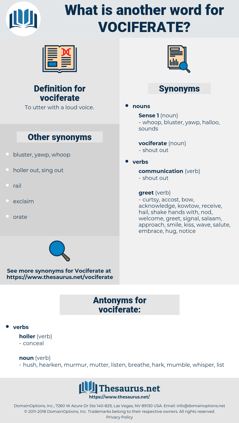 vociferate, synonym vociferate, another word for vociferate, words like vociferate, thesaurus vociferate