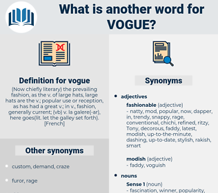 vogue, synonym vogue, another word for vogue, words like vogue, thesaurus vogue