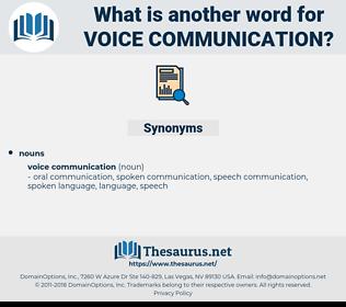 voice communication, synonym voice communication, another word for voice communication, words like voice communication, thesaurus voice communication