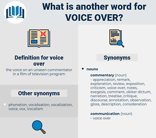 voice over, synonym voice over, another word for voice over, words like voice over, thesaurus voice over