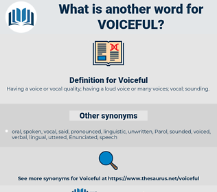 Voiceful, synonym Voiceful, another word for Voiceful, words like Voiceful, thesaurus Voiceful