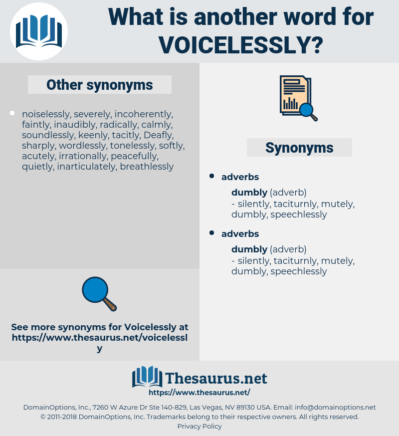 voicelessly, synonym voicelessly, another word for voicelessly, words like voicelessly, thesaurus voicelessly