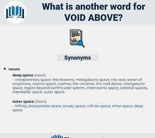 void above, synonym void above, another word for void above, words like void above, thesaurus void above