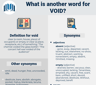 void, synonym void, another word for void, words like void, thesaurus void