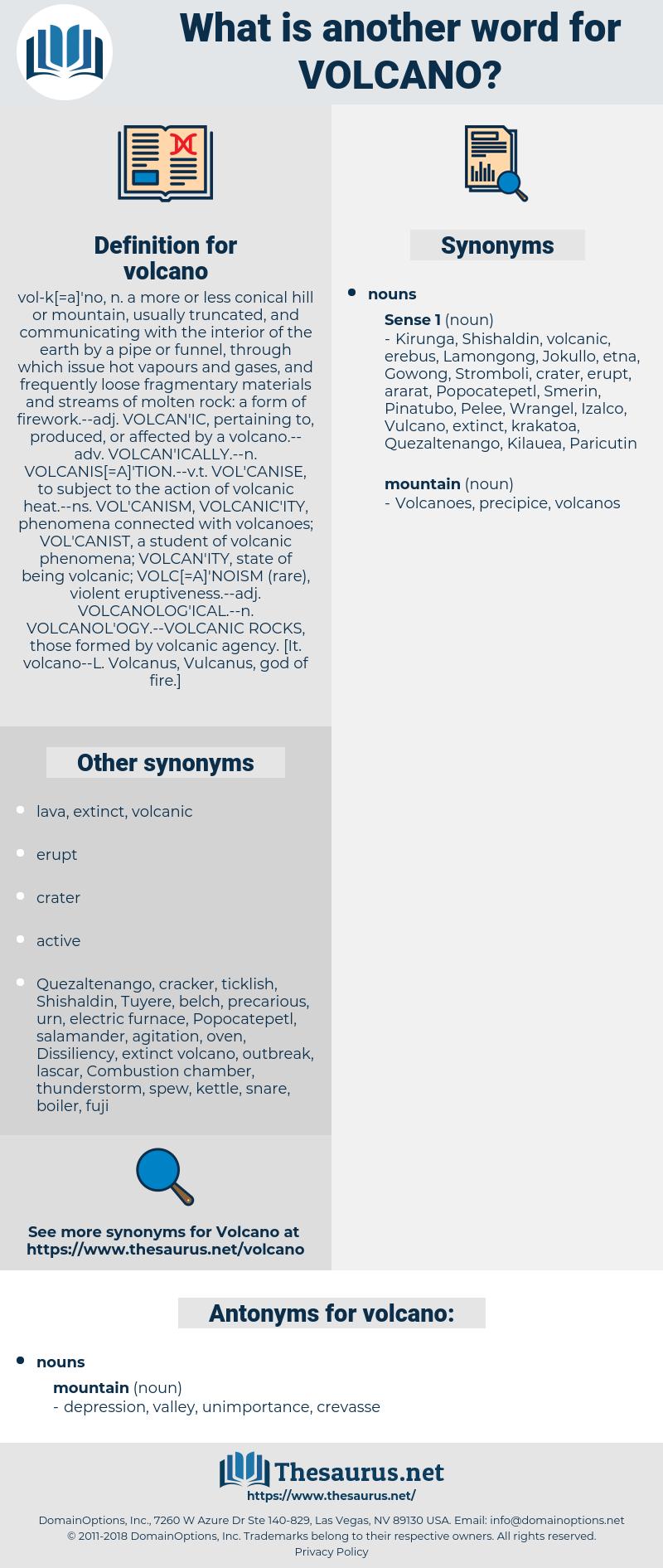 volcano, synonym volcano, another word for volcano, words like volcano, thesaurus volcano