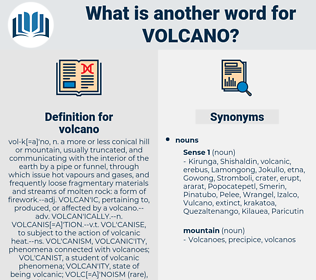volcano, synonym volcano, another word for volcano, words like volcano, thesaurus volcano