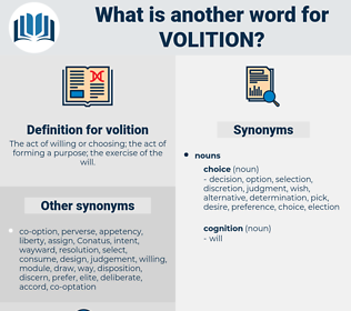 volition, synonym volition, another word for volition, words like volition, thesaurus volition
