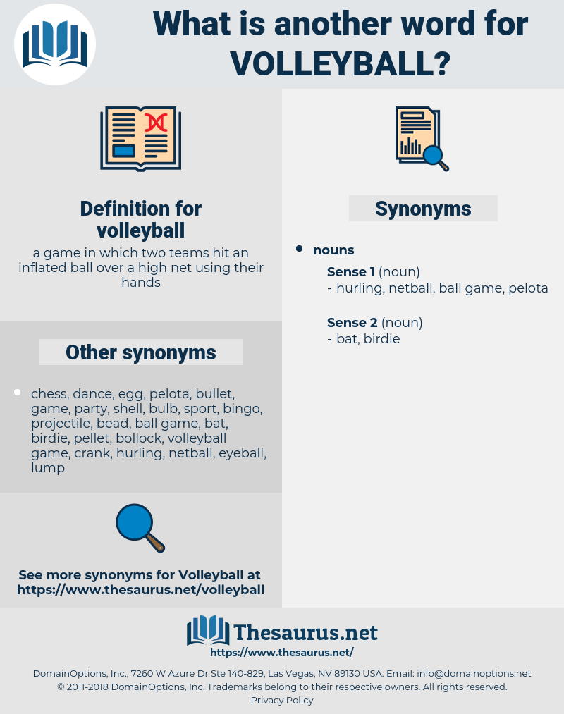 synonyms for volleyball - thesaurus