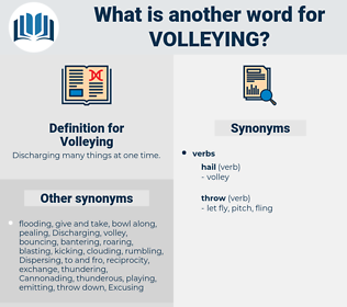 Volleying, synonym Volleying, another word for Volleying, words like Volleying, thesaurus Volleying