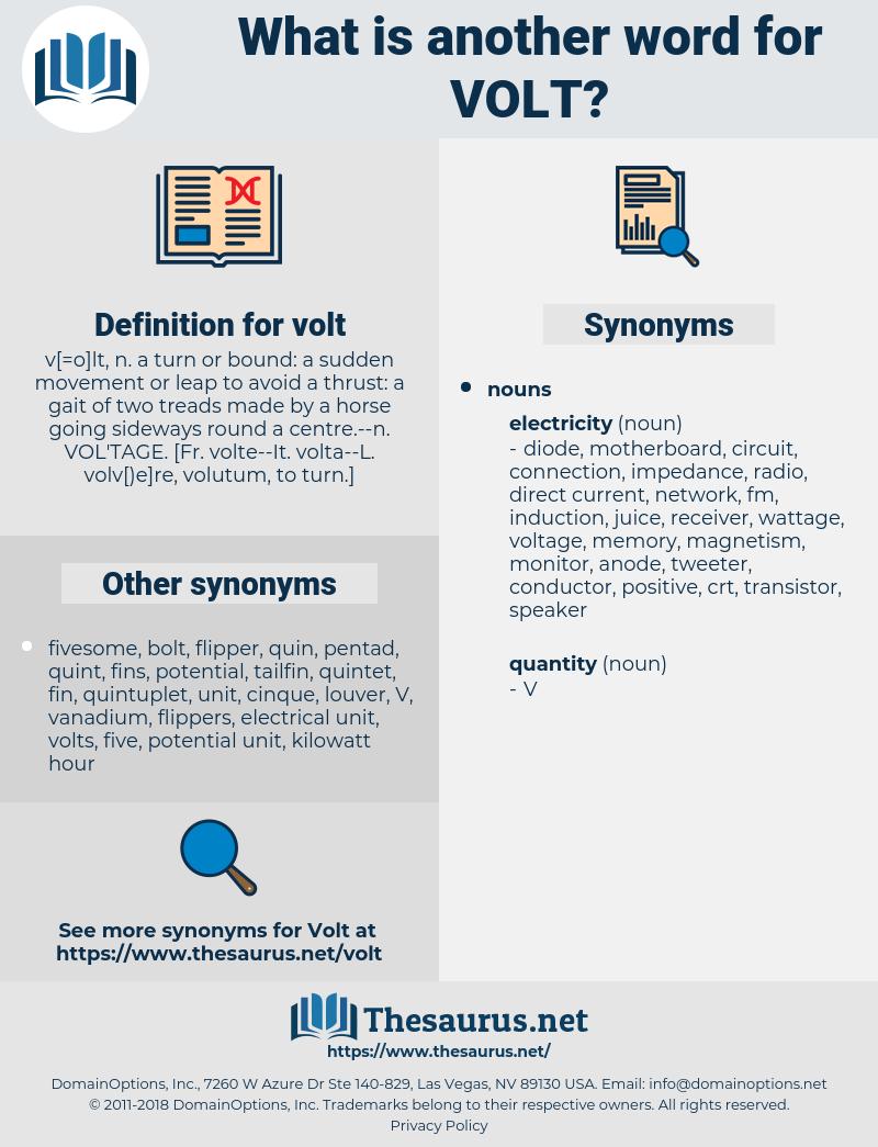volt, synonym volt, another word for volt, words like volt, thesaurus volt