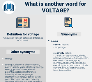 voltage, synonym voltage, another word for voltage, words like voltage, thesaurus voltage