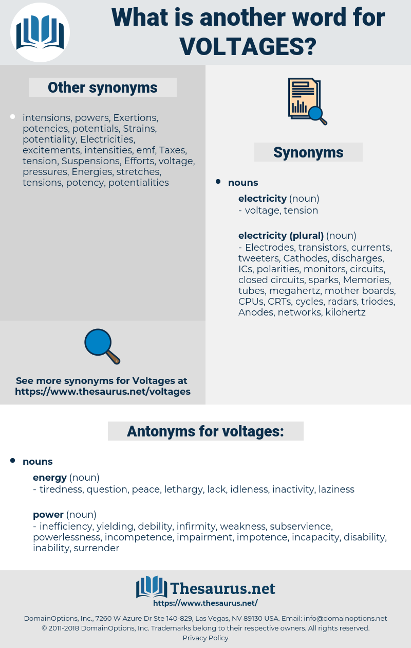 voltages, synonym voltages, another word for voltages, words like voltages, thesaurus voltages