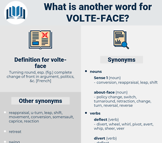 volte-face, synonym volte-face, another word for volte-face, words like volte-face, thesaurus volte-face