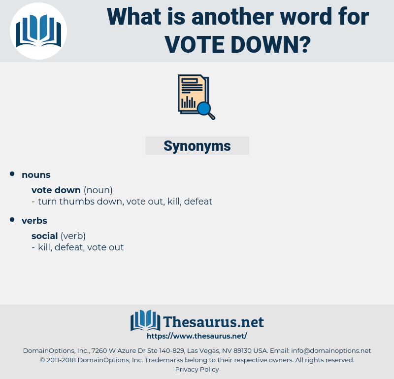 vote down, synonym vote down, another word for vote down, words like vote down, thesaurus vote down