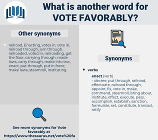 vote favorably, synonym vote favorably, another word for vote favorably, words like vote favorably, thesaurus vote favorably