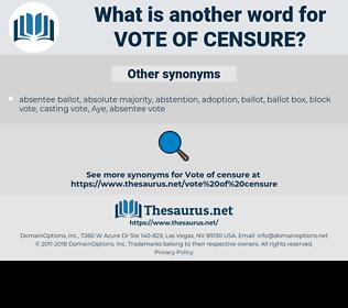 vote of censure, synonym vote of censure, another word for vote of censure, words like vote of censure, thesaurus vote of censure