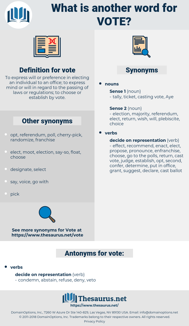 vote, synonym vote, another word for vote, words like vote, thesaurus vote