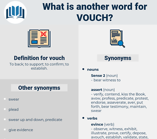 vouch, synonym vouch, another word for vouch, words like vouch, thesaurus vouch