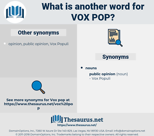 vox pop, synonym vox pop, another word for vox pop, words like vox pop, thesaurus vox pop