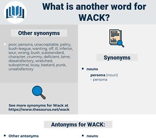 WACK, synonym WACK, another word for WACK, words like WACK, thesaurus WACK