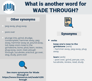 wade through, synonym wade through, another word for wade through, words like wade through, thesaurus wade through