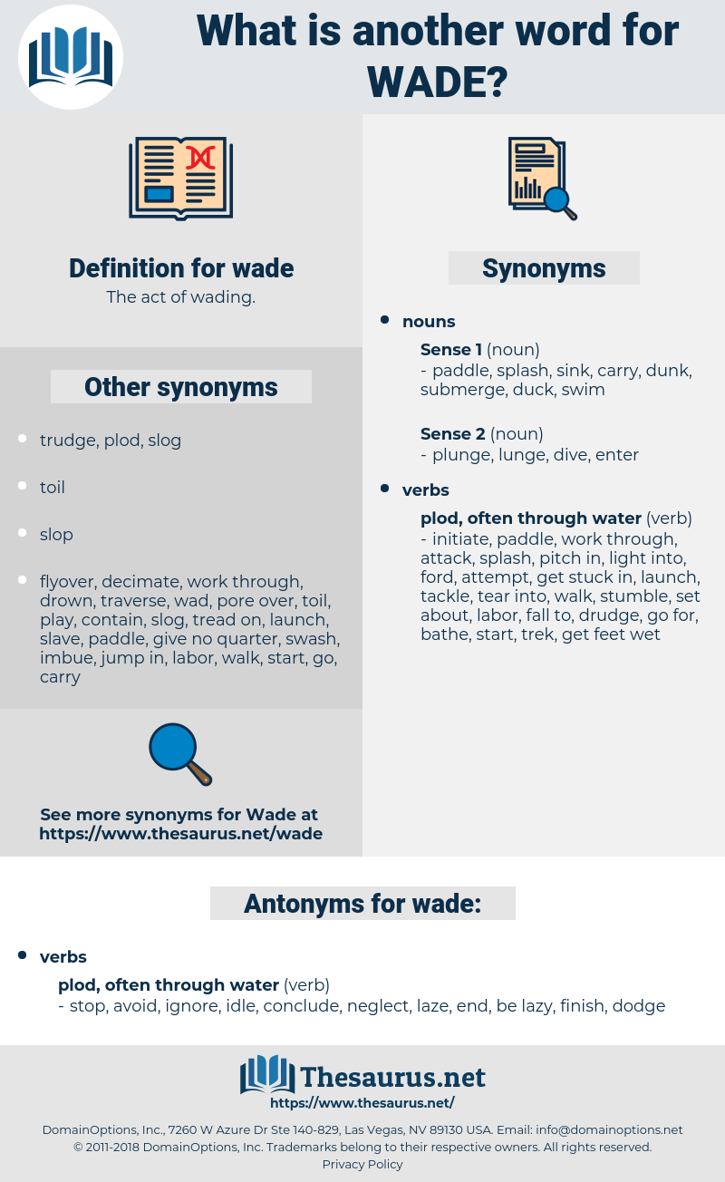 wade, synonym wade, another word for wade, words like wade, thesaurus wade