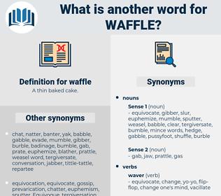 waffle, synonym waffle, another word for waffle, words like waffle, thesaurus waffle