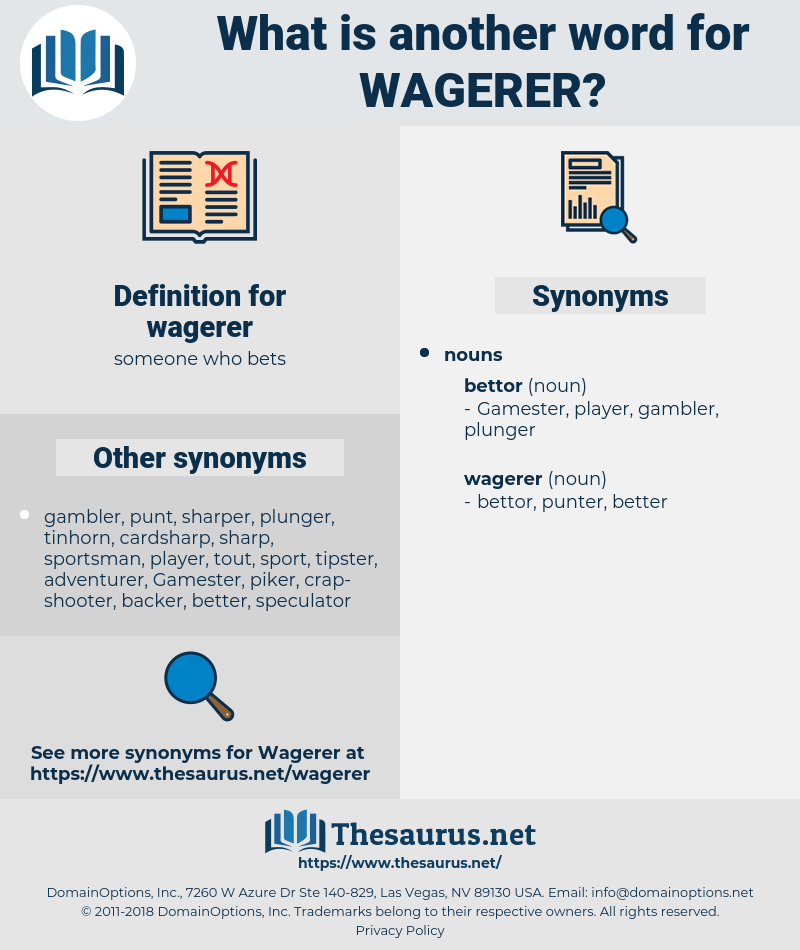 wagerer, synonym wagerer, another word for wagerer, words like wagerer, thesaurus wagerer