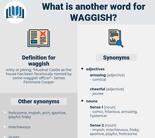 waggish, synonym waggish, another word for waggish, words like waggish, thesaurus waggish