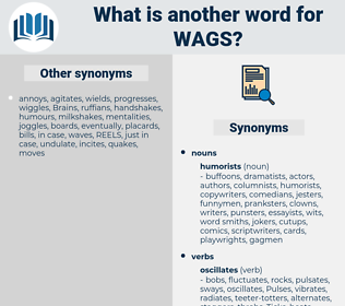 wags, synonym wags, another word for wags, words like wags, thesaurus wags