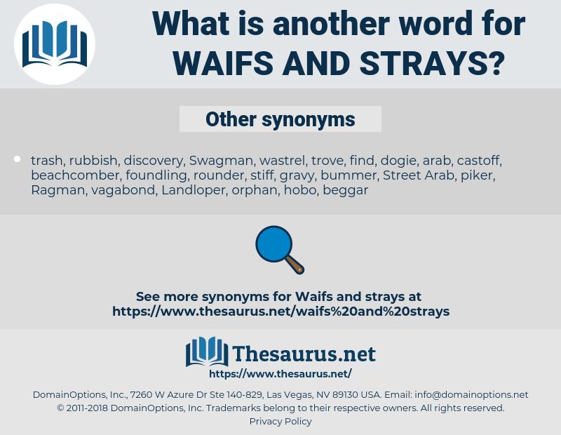 waifs and strays, synonym waifs and strays, another word for waifs and strays, words like waifs and strays, thesaurus waifs and strays