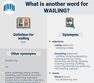 wailing, synonym wailing, another word for wailing, words like wailing, thesaurus wailing